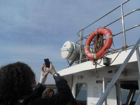 On the ferry back from the Aran Islands.