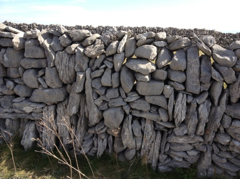 . If you counted every rock used to construct Ireland's famous walls, at a rate of one rock per second, you'd get bored really fast.