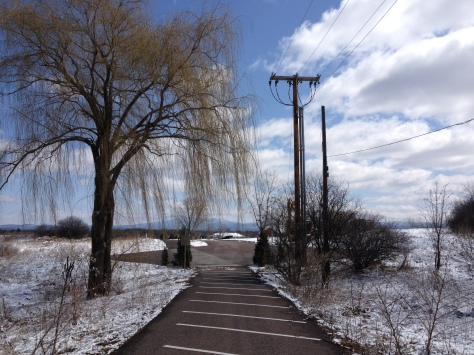 . My springtime walk home is not normally this cold.